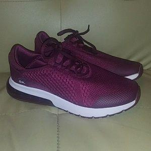 Womens Avia O2Air Memory Foam Size 10 Wine Shoes
